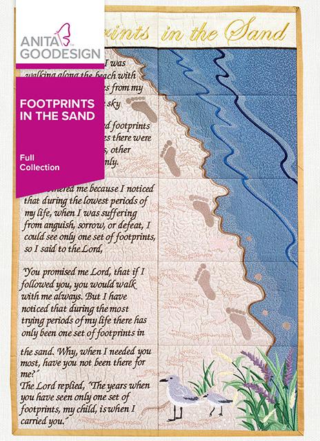 Footprints In The Sand Quilt Block Designs Anita Goodesign