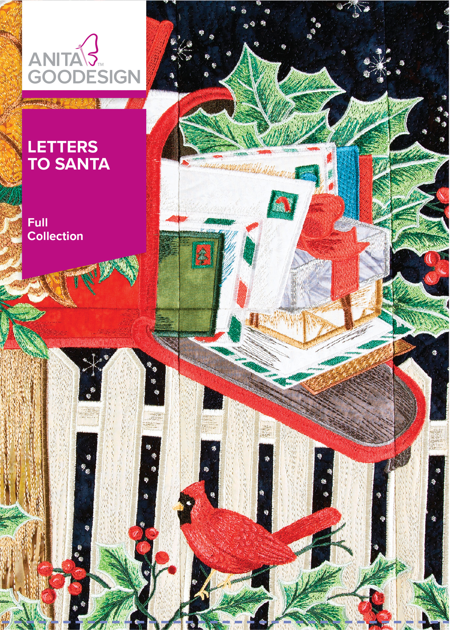 Letters To Santa Christmas Embroidery Design Anita