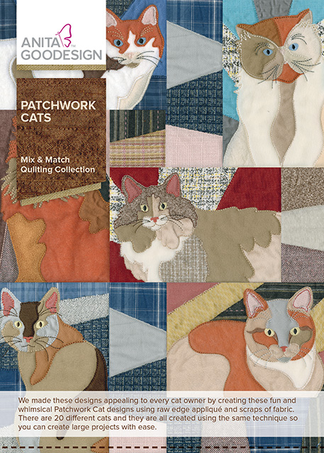 patchwork cats quilting collection anita goodesign. Black Bedroom Furniture Sets. Home Design Ideas
