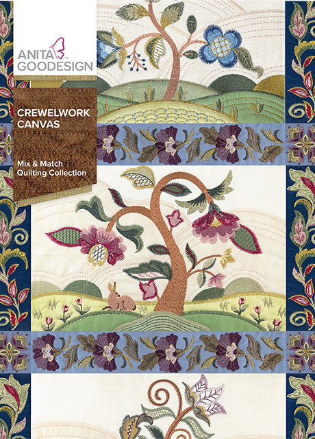 Crewelwork Canvas Quilting Collection Anita Goodesign