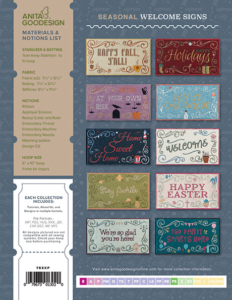 Seasonal Welcome Signs Back Cover