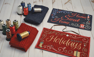Seasonal Welcome Signs With Thread
