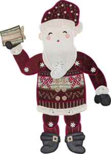 Santa Claus Door Dangler Embroidery