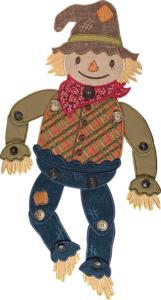 Fall Straw Scarecrow Door Dangler Embroidery