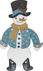 Snowman Door Dangler Embroidery