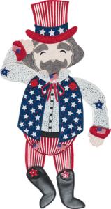 Uncle Sam Door Dangler Embroidery