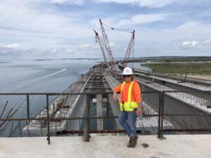 Teri, an engineer, overlooks her job site