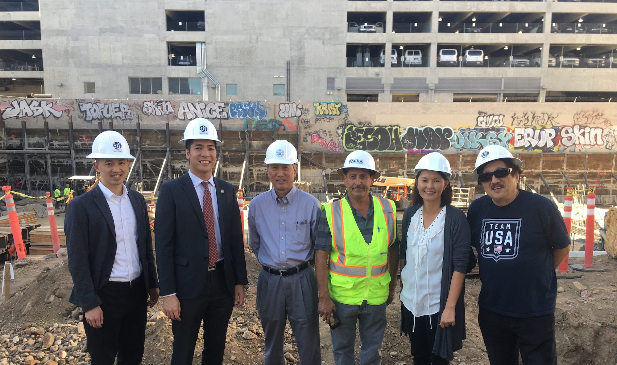 At the Budokan Community Recreation Center construction site