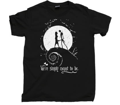 Jack skellington sally t shirt simply meant to be for We the kings t shirts