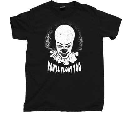 f43f355f4 ... PENNYWISE The Dancing Clown Stephen King IT Movie Book Novel T Shirt
