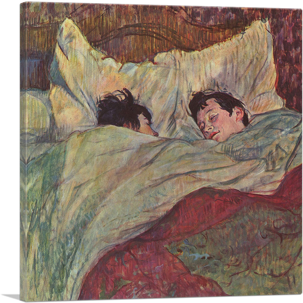 Artcanvas In Bed 1893 Canvas Art Print By Henri De Toulouse Lautrec Ebay