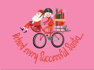 Santa with Bike