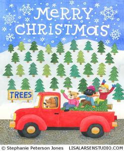 SPJ-1107-Christmas-Truck-Dogs