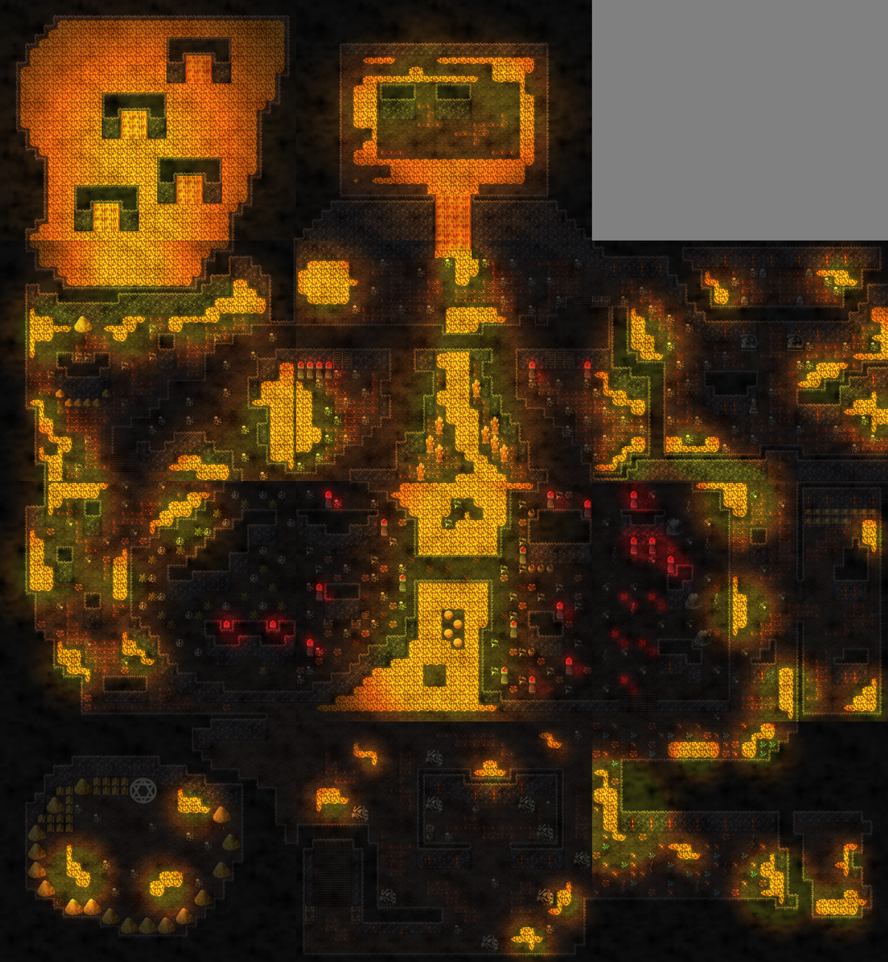 Lava Dungeon Map - Design and Creativity - Ascension Game Dev on