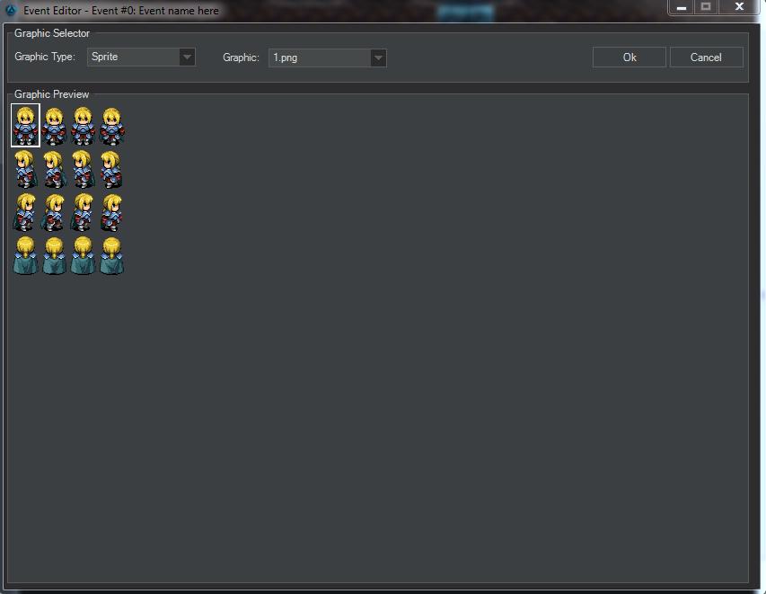 Event Editos preview window