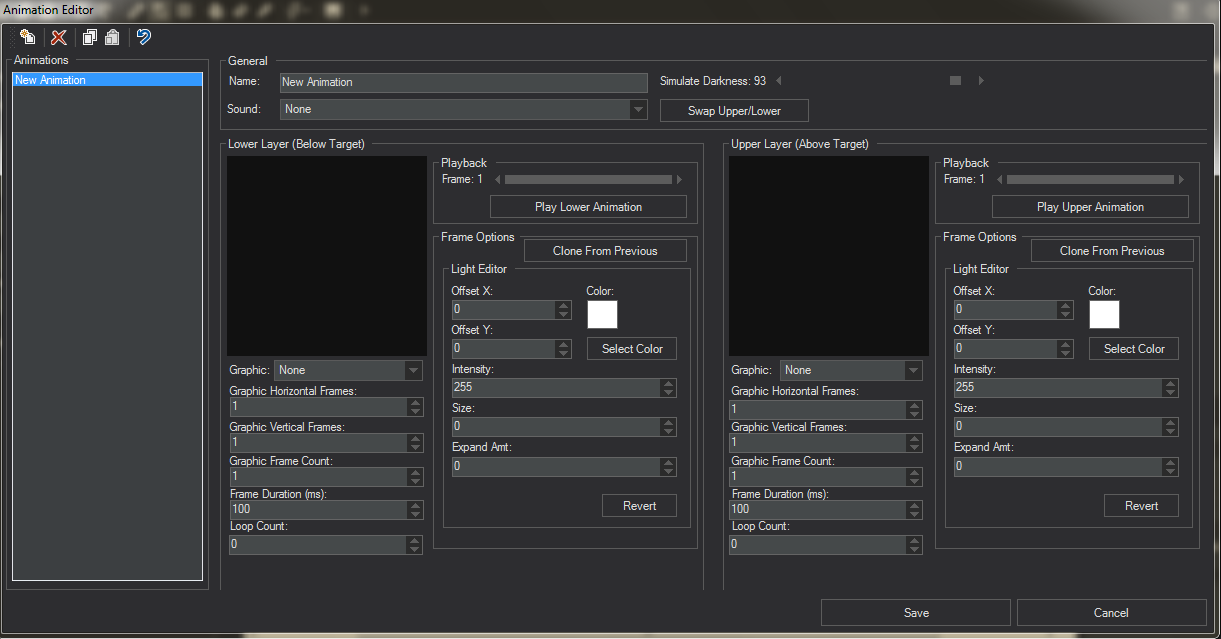 Editor interface