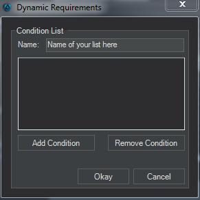 Event Editor condition list