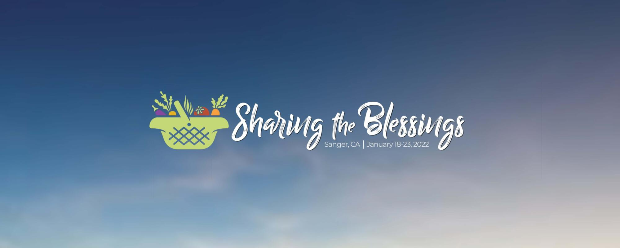 Sharing the blessings banner sky