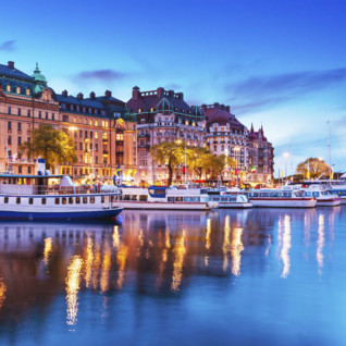 The Stockholm Waterfront at Dusk
