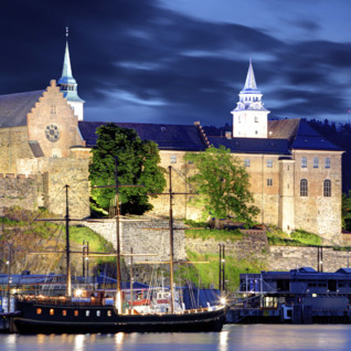 view of akershus fortress in oslo in norway