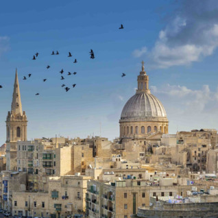 View across Valletta