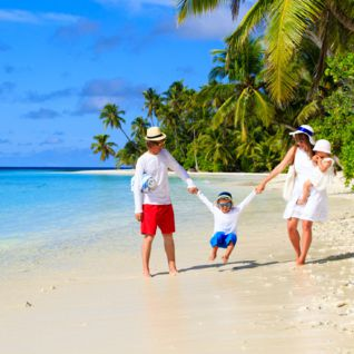 Family in the Maldives