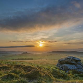 A view of a Dartmoor sunset