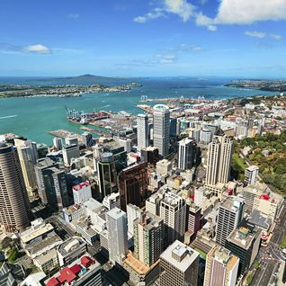 Auckland aerial view