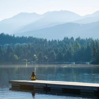 meditation on a lake