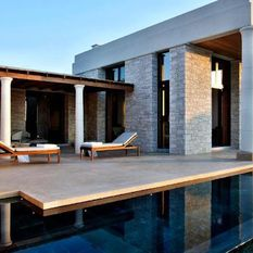 Amanzoe hotel terrace, Greece