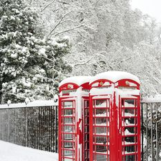 Telephone Box in the Snow