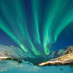 Northern Lights in Swedish Lapland, Sweden