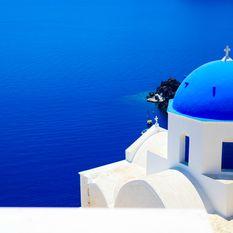 Blue sea of Santorini