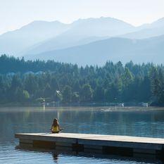 meditation on a lake