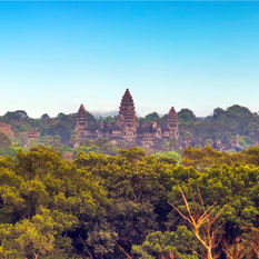 angkor aerial in Combodia