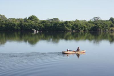 Kayaking on Lake Nicaragua