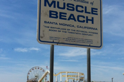 The Muscle Beach Sign, California