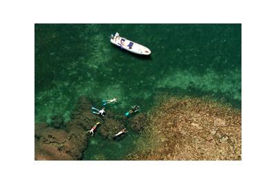 snorkelling at manda