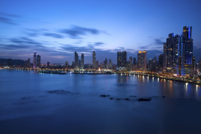 Panama city sky line at night