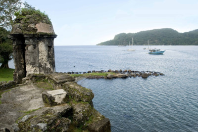 View of the bay in Portobelo, Panama