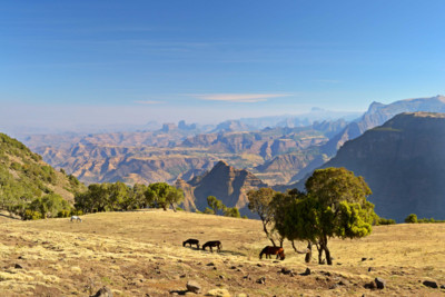 View of the Simien Mountains in Ethiopia