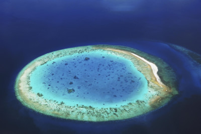 Aerial view of Maldives Island