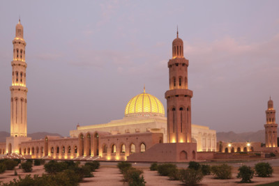 view of grand mosque in Muscat