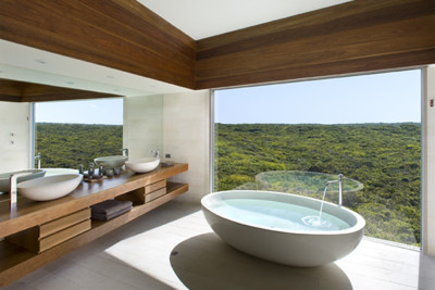 Views from the bathroom in one of the bedrooms
