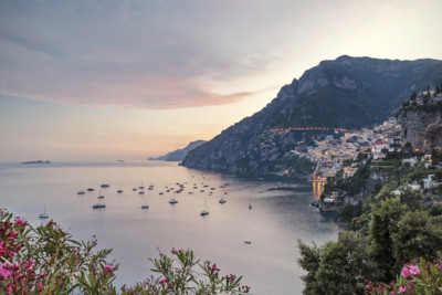 aerial view of Amalfi Coast