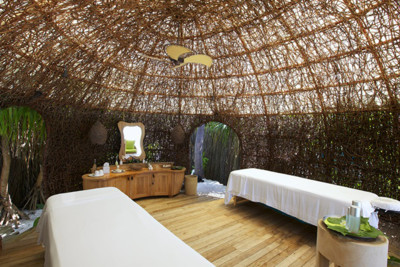 eco friendly treatment room in the Spa