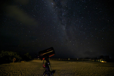 Star gazing on your own private island during dinner