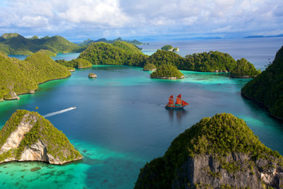 Aerial view of Raja Ampat