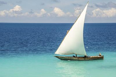 Boat sailing in Zanzibar, Africa