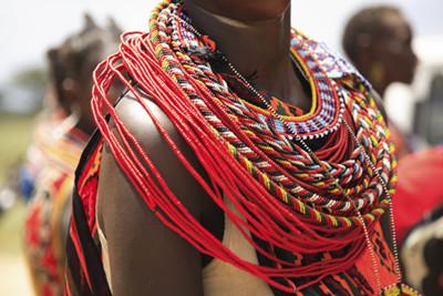Tribal necklaces, Kenya